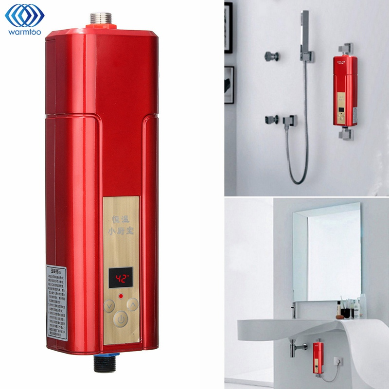 Electric Hot Water Heater Mini Wall Mounted 5500W Instant Heating Constant Temperature Shower Room Kitchen