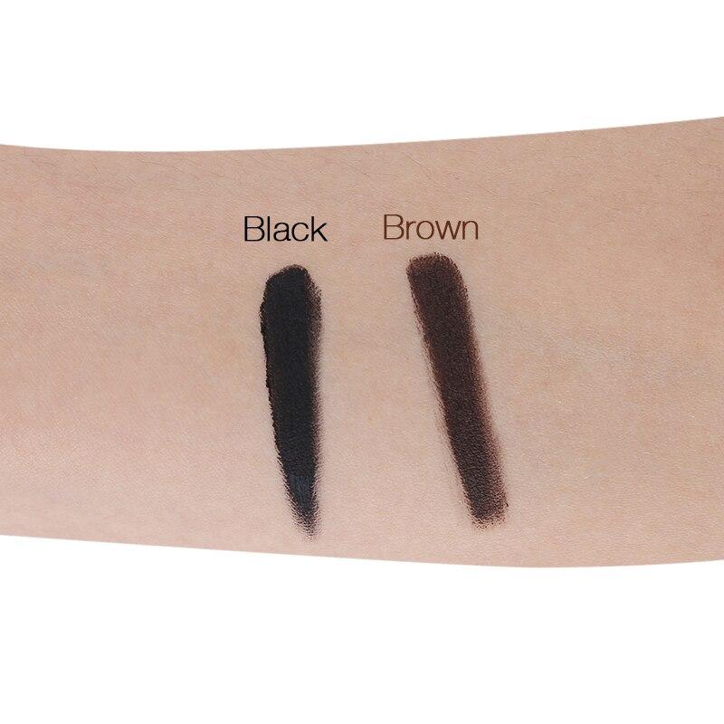 Водонепроницаемый подводка для глаз гель не размазывается Eye Liner Крем Ультра черный Цвет натуральный коричневый Fast Dry век длительный дымчат...