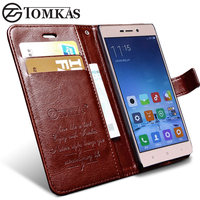 Xiaomi Redmi 3S Case Redmi 3 Pro 3 S Case Cover TOMKAS Flip Wallet With Stand