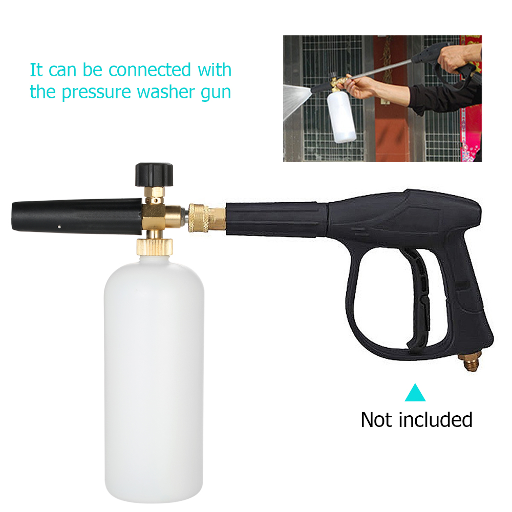 "MATCC Adjustable Foam Cannon 1 Liter Bottle Snow Foam Lance With 1//4/"" Quick C..."