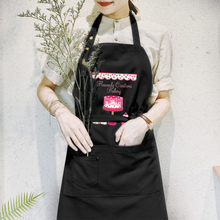 Korean fashion cotton waterproof apron milk tea coffee cake shop baking nails overalls