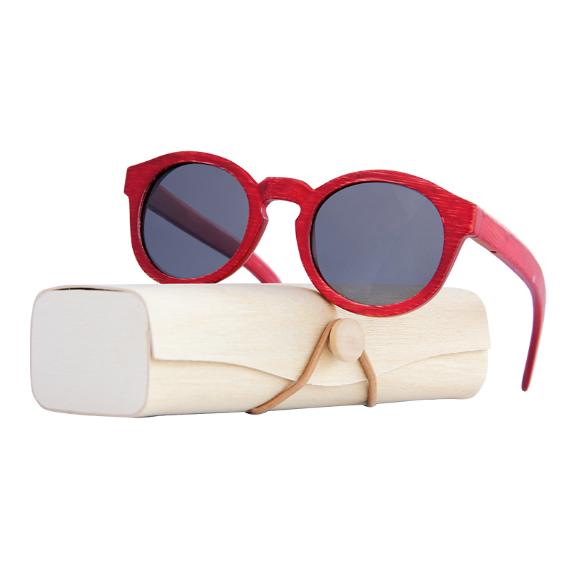 Les Lunettes Vintage Polarisée femmes lunettes de soleil Rouge cadre en  bambou lunettes de soleil hommes En Bois Cas Plage Anti UV lunettes pour  Conduite ... 1a73fbe62acb