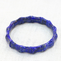 Exquisite Blue Bracelets Bangle For Women Men Natural Lapis Lazuli Stone Beads Geometry 10x14mm Manual Jewelry 7.5inch B3278