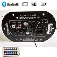Для Мотоцикла  Автомобиль  Домой 30 Вт Усилитель Доска Аудио Bluetooth fm-радио TF Плеер Сабвуфер Amplificador USB dac DIY Усилители