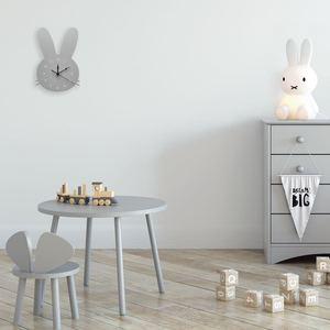 Image 4 - Decoración de habitación nórdica para niños, reloj de conejo, decoración de pared para sala de colgar, estilo escandinavo, decoración para niños, decoración nórdica para guardería