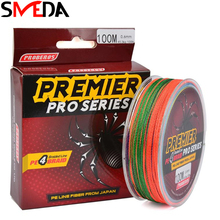 Fishing Line 100M 6-100LB PE Mixed 5 Colors Sea Super Braided Japan Strong Fishing Line Carp Fishing For Fish Rope Cord yudeli 1000m fishing reel pe wire 8 braided fishing line bait lure accessory strong carp sea fish cord tackle tool accessories