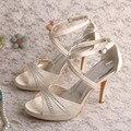 Wedopus MW551 Женщины Кристалл Драгоценностями Свадебная Обувь Женские Сандалии 2016 Высокие Каблуки