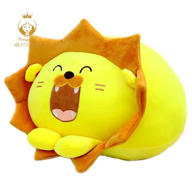1PCS 30CM Cartoon Lion Plush Filling Pillow, Cute Laugh Lion Plush Toys, Office Nap Pillow, Children's toys, Christmas Gifts