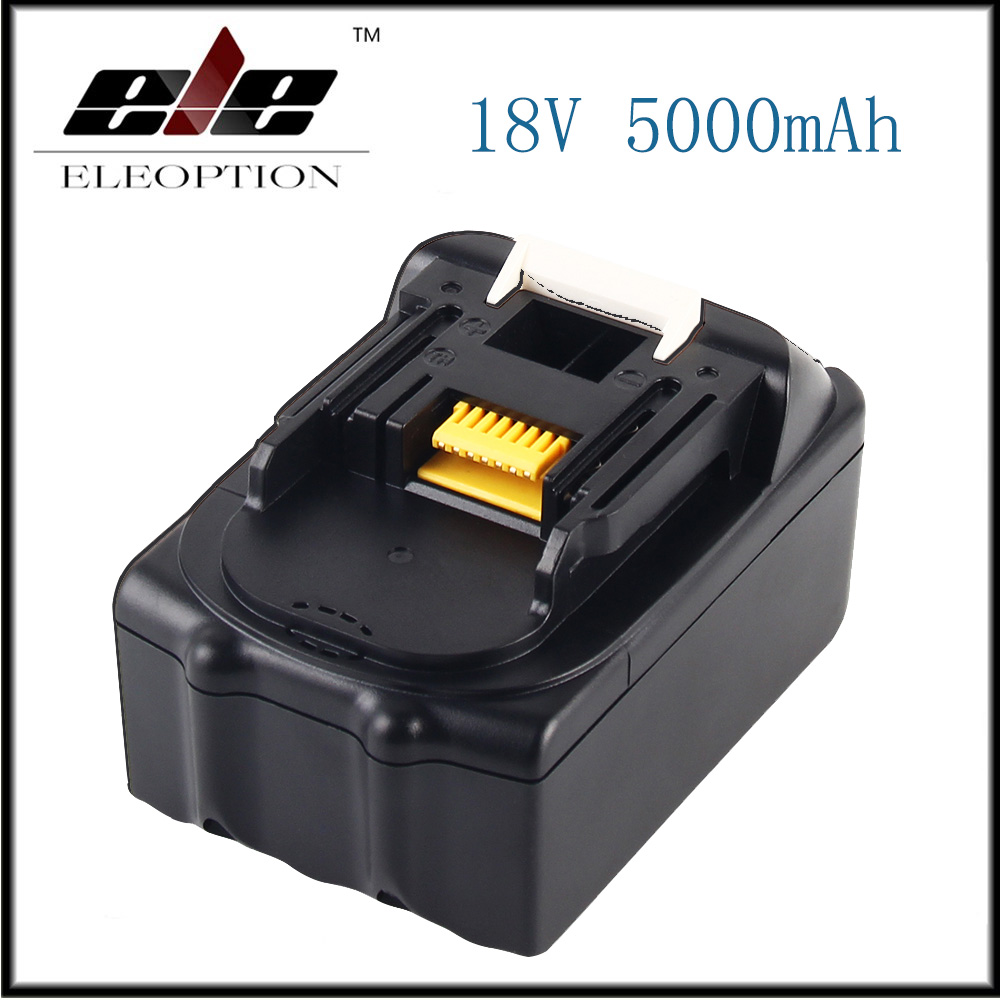 цена 18V 5000mAh Li ion Power tools Replacement battery For Makita BL1815 BL1850 LXT400 BL1840 BL1830 Rechargeable batteria