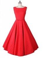 Free shipping 2015 plus size retro elegant bow belt dress rockabilly vintage dress