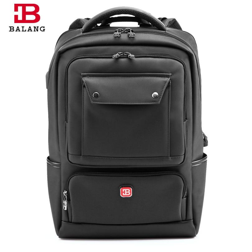 купить BALANG 2018 New Men Laptop Backpack Women Large Capacity Notebook Computer Rucksack Waterproof School Bag Backpacks for Teenager по цене 2256.84 рублей