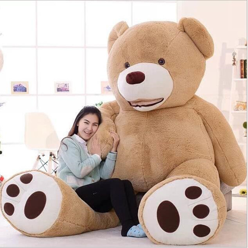 2016 New Kawaii 2.6m Huge Plush Animals Giant Teddy Bear Stuffed Animals Soft Toys Kids Toys Huge Plush Bear Best Gifts Juguetes