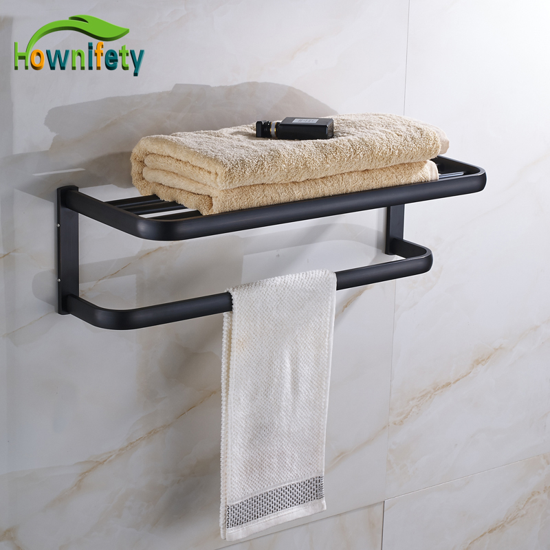 Oil Rubbed Bronze Bathrrom Dual Towel bar Towel Hanger Soild Brass Wall Mount ceramic oil rubbed bronze crystal hanger towel rack holder single towel bar new