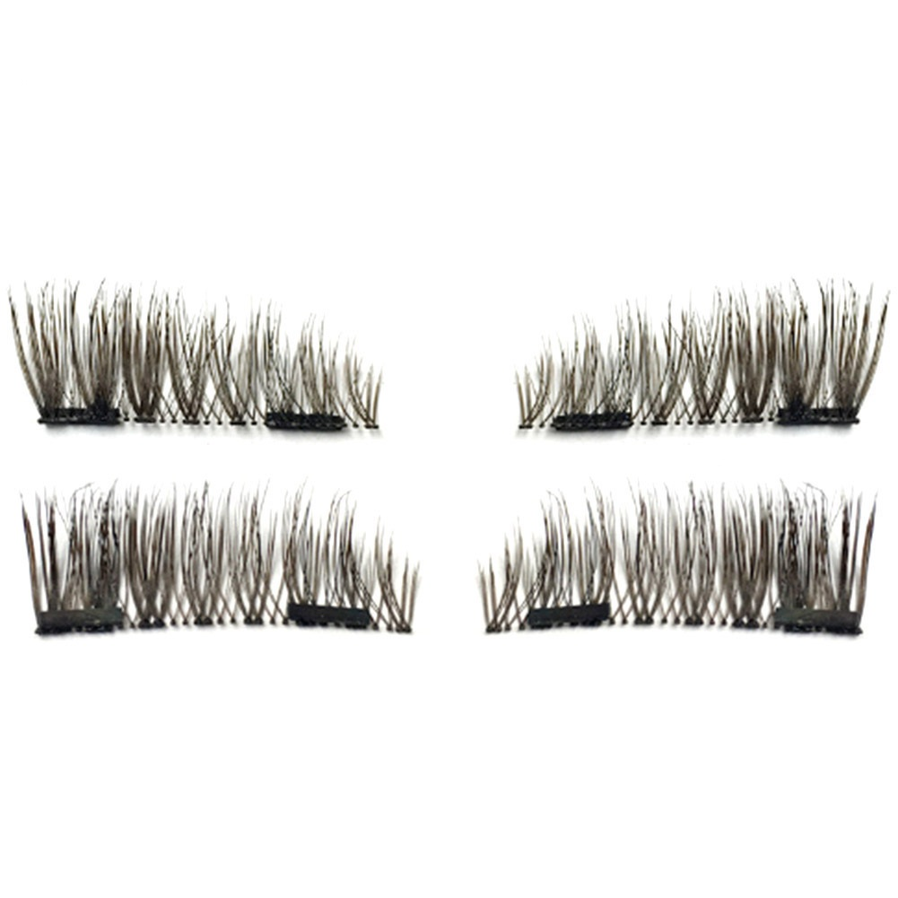 New Top Fashion NEW Ultra-thin 0.2mm Magnetic Eye Lashes 3D Reusable False Magnet Eyelashes Extension Black brown color fight