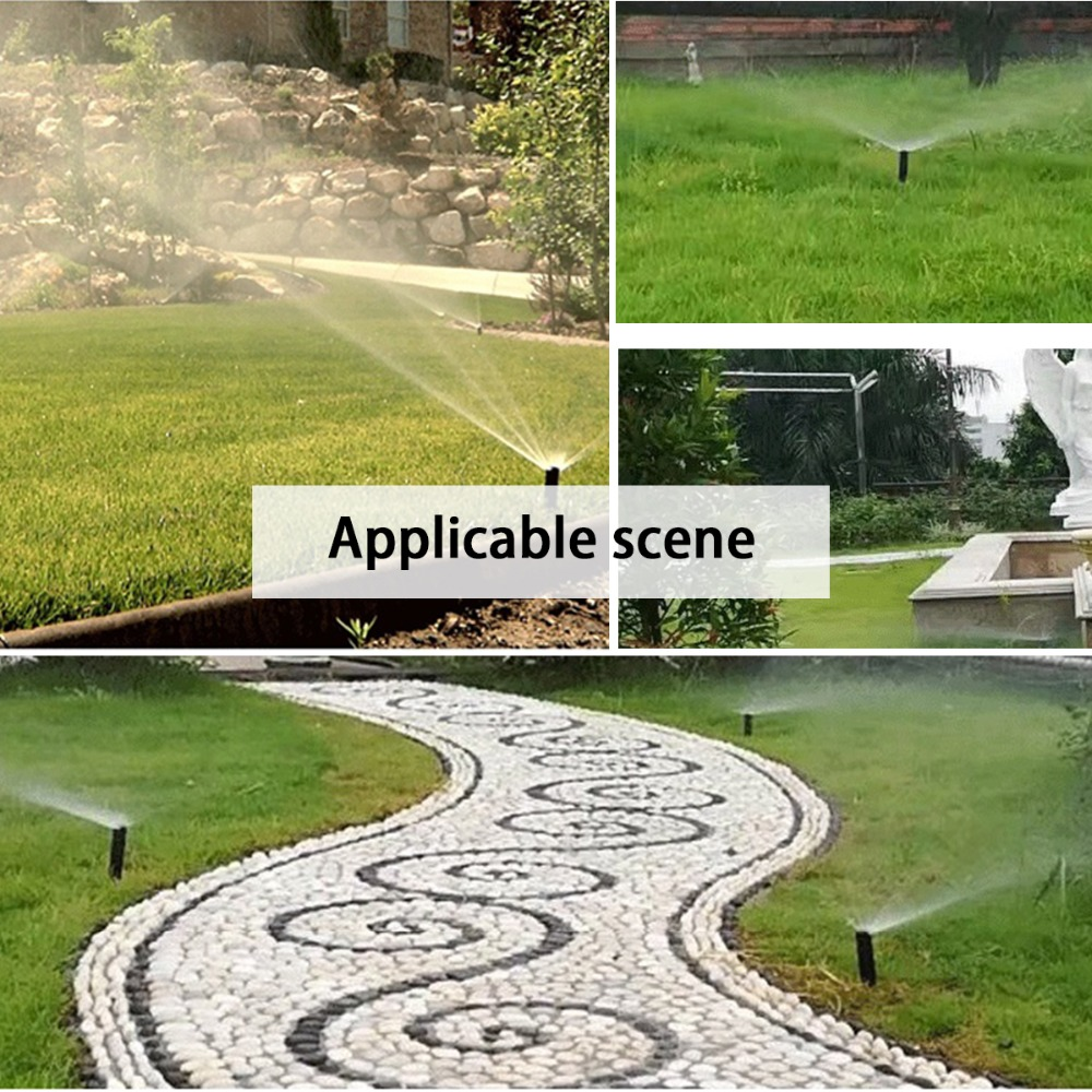 Image 5 - 90 360 Degree 4Pcs/lot Garden Lawn Sprinkler  Automatic Retractable Spray Irrigation System Copper Nozzle #GW00107-in Garden Sprinklers from Home & Garden