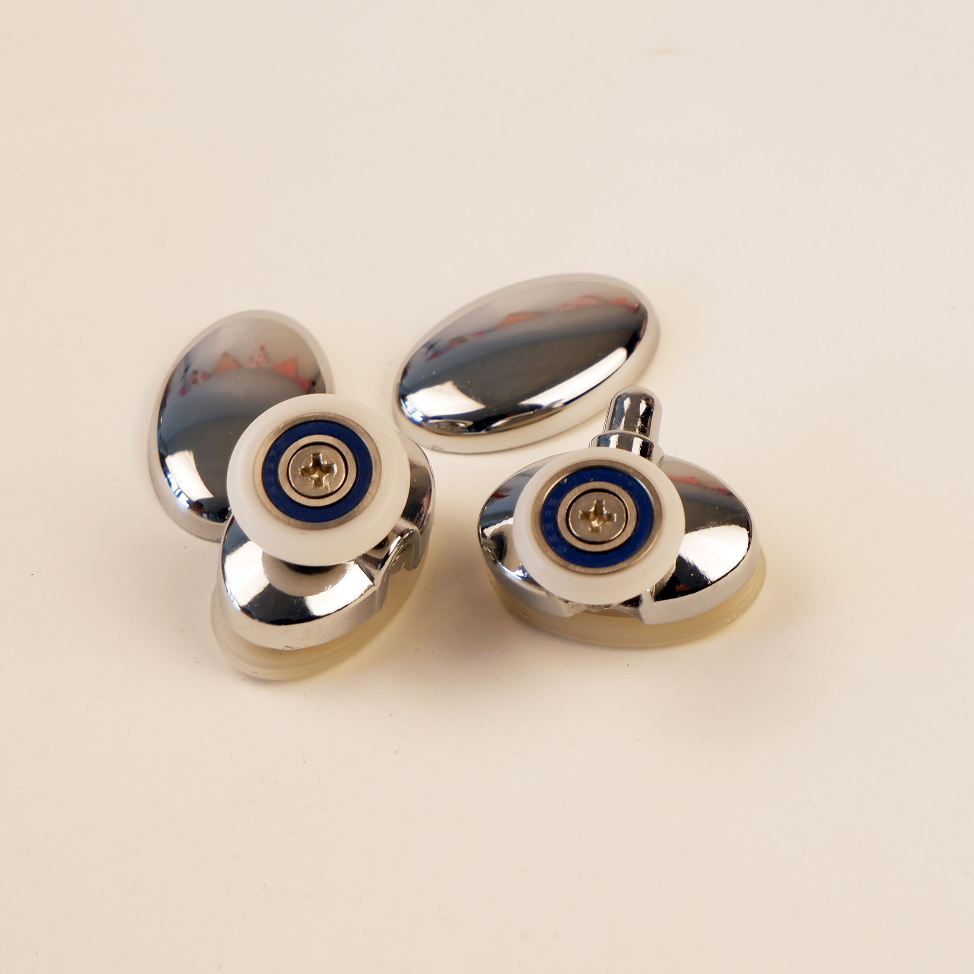 2pcs bathroom zinc alloy arc top bottom pulley wheel for glass door crane shower room guide roller accessory shower room pulley