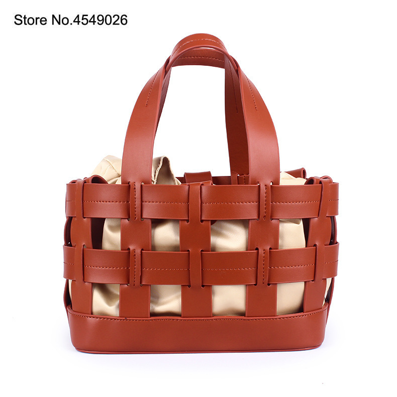 Genuine Leather Women Bag Hand-held Basket Bag  Cow Leather Large Capacity Square Bag Two-layer Leathe franc bag designer bagsGenuine Leather Women Bag Hand-held Basket Bag  Cow Leather Large Capacity Square Bag Two-layer Leathe franc bag designer bags