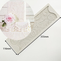 LY 0026 Pearl lace cake mould DIY chocolate kitchen baking tray Wedding cake fondant pearl lace tool
