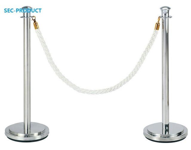 VENDA QUENTE 2 PCS aço Inoxidável utilizado barreira para a posição especial/Opaco Stand com Corda de Veludo