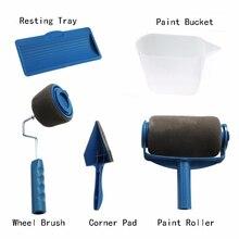 5 шт. DIY набор кистей для рисования, набор инструментов для использования, фиксация, Настенная декоративная ручка, стекающийся инструмент для обработки кромок, кисть для нанесения краски со швом