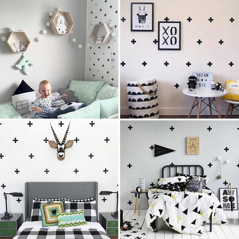 Cross Wall Sticker For Kids Room Baby Boy Room Wall Decor Girl Room Home  Decor Nursery Ideas Vinyl Wall Stickers Wallpaper