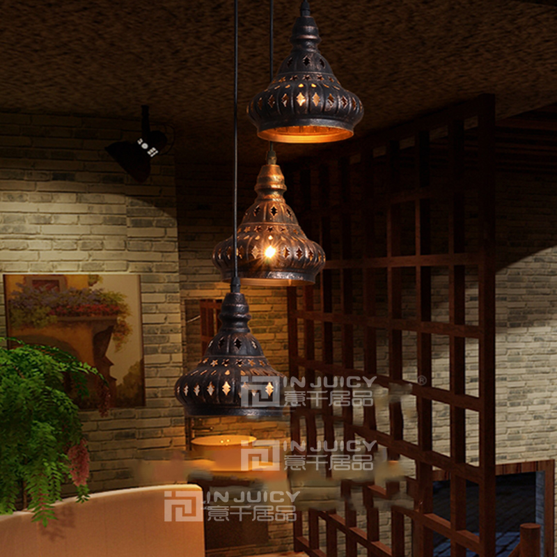 loft indien vintage edison pendelleuchte antike industrielle hohlen metall kronleuchter bar cafe esszimmer restaurant droplighting in loft indien vintage - Kronleuchter In Indien