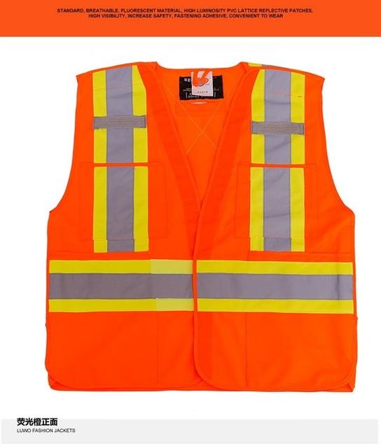 Construção de segurança de alta visibilidade reflexiva colete refletivo de segurança vestuário de protecção