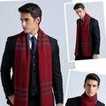 Cachecol clássico Homens Cachecóis cachecol de inverno projeto longo Cachecol de Caxemira Quente Presentes Para Homens de Negócios Casuais Homens Xale foulard