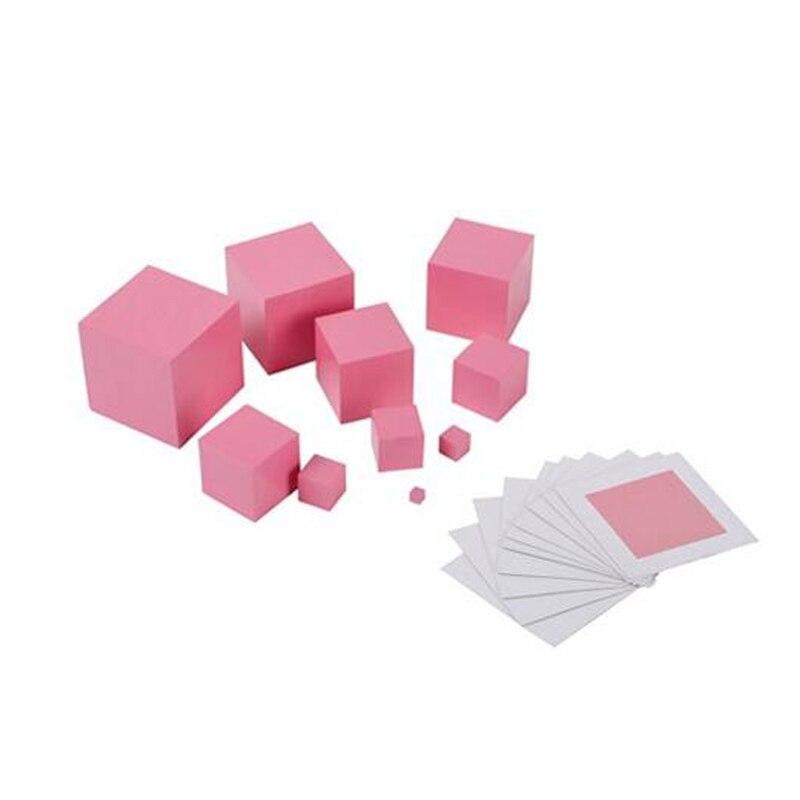 Pink Tower s karticom Montessori Materijal Creative Senzor Kid - Obrazovanje i osposobljavanje - Foto 2