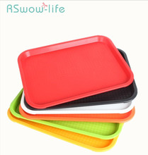 Anti-slip Trays KFC Storage Tray Hotel Cutlery Serving Trays Rectangular Platters Plastic Fruit Food Tray For Kitchen Storage retro household rectangular tea fruit tray jewelry luxury resin mirror beauty salon spa essential oil tray serving trays