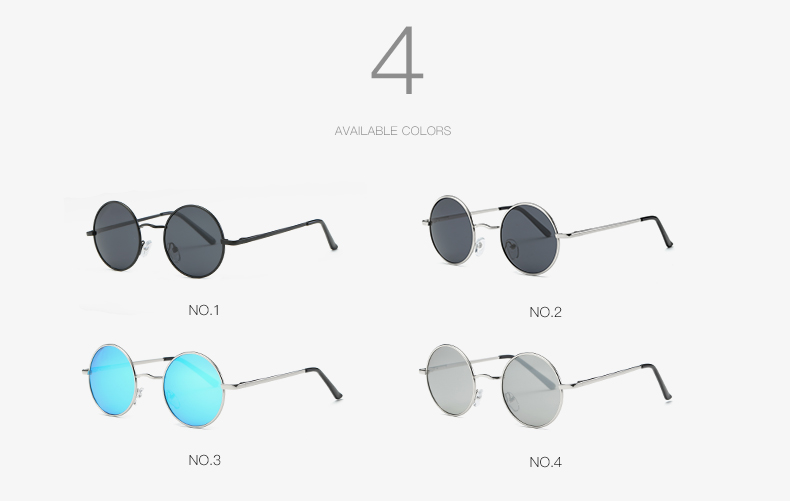AEVOGUE Polarized Sunglasses For Men/Women نظارات شمسية للرجال وللسيدات بعدسات دائرية بلورايزد 3