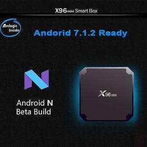 Image 4 - Wechip X96 Mini Astuto di Android 7.1 Tv BOX 2G 16G Set Top Box 1G 8G X96mini supporto 4K HD 2.4G Wireless WIFI Media Player