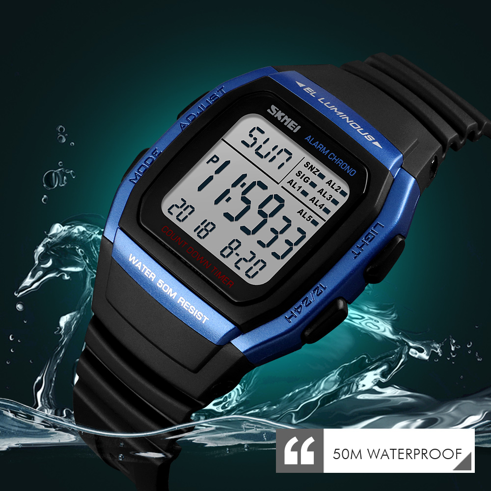 SKMEI Fashion Men Watches Sports Digital Watch Waterproof Alarm Man Wrist Electronic Clock Men Relogio Masculino(China)
