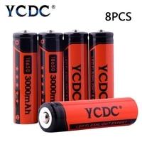 Cheap 8PCS New Original 18650 3.7V 3000mah Li-ion Rechargeable Battery 18650 For Flashlight Laptop Batteries Low Price Promotion