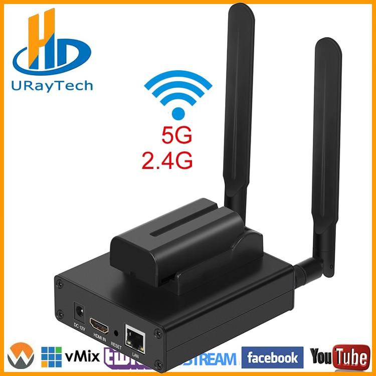 MPEG-4 H.264 HD sans fil WiFi HDMI encodeur IP encodeur H.264 pour IPTV, diffusion en direct, enregistrement vidéo HDMI serveur RTMP