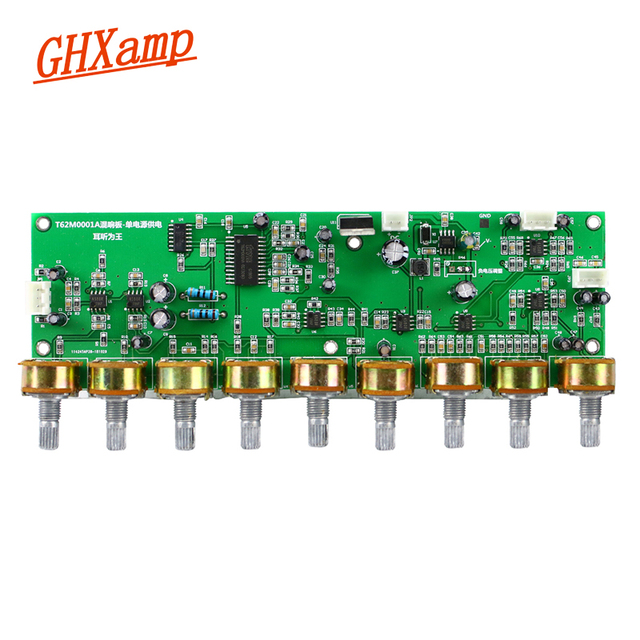 GHXAMP T62M0001A オーディオミキサーボードステレオカラ Ok 残響ボードプリアンプトーンと高音と低音調整 DC12V 1 pc