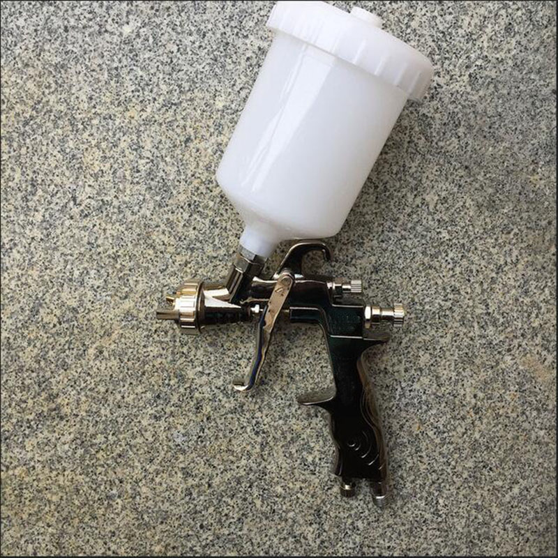 SAT0083 free shipping chrome paint spray paint gun high pressure compressed air hvlp pneumatic spray gun sat1189 free shipping dual head spray gun paint spray gun air compressor silver mirror chrome spray gun hvlp