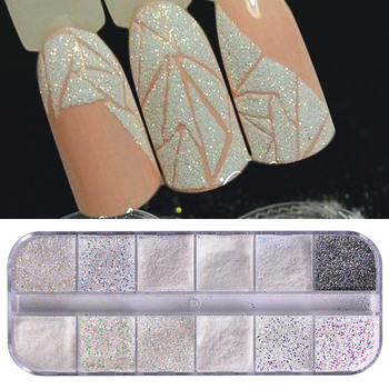 1 Set Super Shining Sugar/Mermaid Nail Glitter Powder Holographic Laser Pigment Dust Manicure Art Decoration BETY