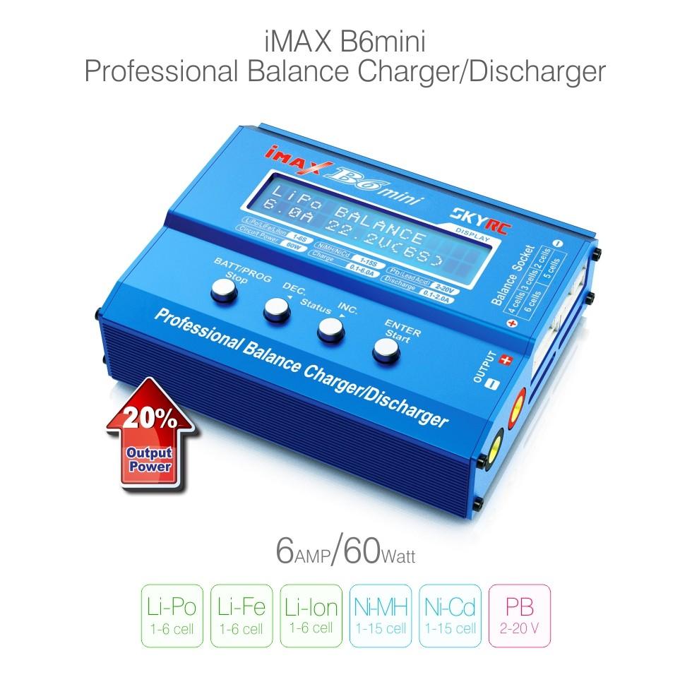 Prix pour Origine SKYRC iMAX B6 Mini 60 W Lipo Équilibre de La Batterie Écran lcd Déchargeur Pour RC Multirotor Avions Batterie Chaude ventes