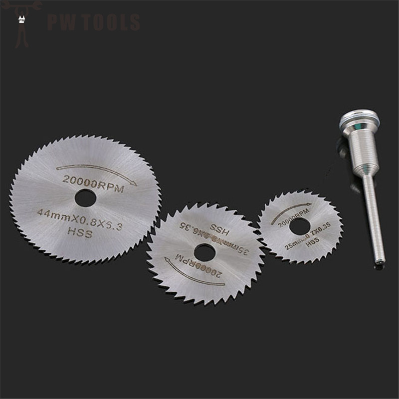 HSS Circular Saw Blade Cutting Discs Set with Mandrel 25 35 45 50 mm Cutting Wheel for Power Tool Accessories