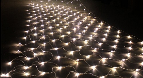 free shipping144 led net lightwarm white led christmas light 1515mm
