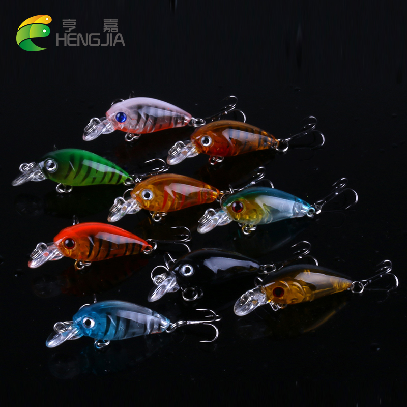 HENGJIA 9pcs 4.5cm 3.6g mini Fishing Lure Crank Bait isca artificial Crankbait Tackle Swim bait fishing wobblers bass Crazy Fish hengjia 1pc 11 5cm 11 2g pencil fishing lure hard isca artificial minnow crank bait fake bait fishing hook carp fishing wobblers