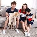 2017 лето Футболки мать и дочь сын одежды соответствия семья одежда семья взгляд jd013
