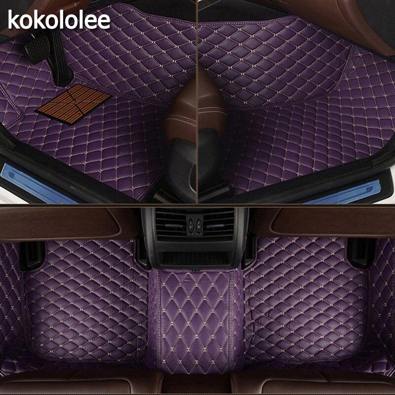 Kokololee Personnalisé plancher de la voiture tapis pour Honda Tous Les Modèles CRV XRV Odyssey Jazz Ville crosstour civic crider vezel fit Accord tapis de voiture
