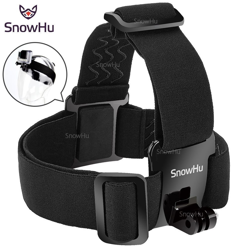 SnowHu for Head strap mount For Gopro Hero 6 5 4 3+ Xiaomi yi 4K Action Camera For Eken H9 SJCAM SJ4000 Go Pro Accessories GP23 цена