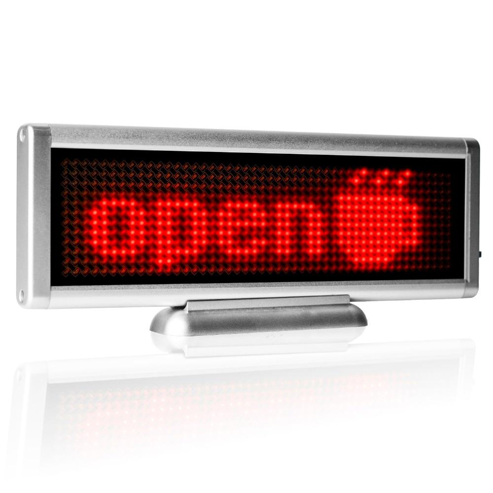 4set/lot 12V car mini <font><b>led</b></font> <font><b>matrix</b></font> display board with single red