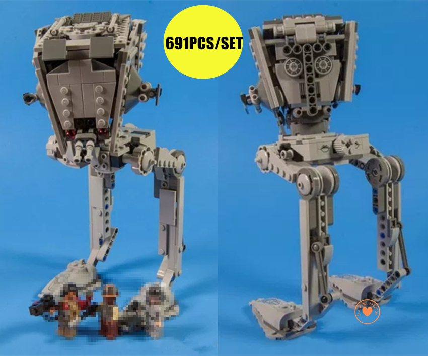 New Star Wars The Rogue One Imperial AT-ST Walker fit legoings star wars figures Building Block Bricks 75153 gift kid set toys star building bricks wars 05066 star series war the rogue one at set st walker set model 464pcs building blocks toys 75153