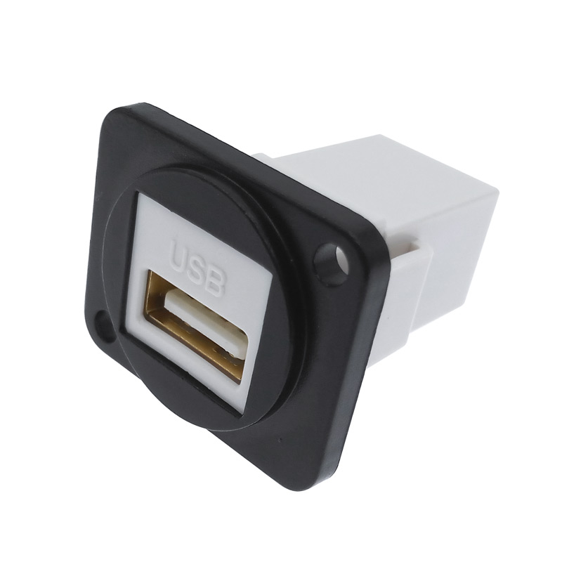 Simple USB Socket Panel Mounting Interface Around Installing The Self-locking Bayonet Connection LED Aviation Socket