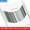 2016 стильный комплект стикеров для велосипедных колес золотого цвета, 29 дюймов, декоративные наклейки для велосипеда, наклейки на колеса