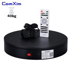 Image 4 - ComXim 32cm beyaz siyah uzaktan kumanda yönlü açısal hızlı fotoğrafik döner elektrikli pikap fotoğraf gösterisi kek